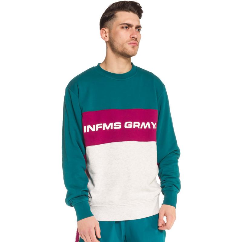SUDADERA GRIMEY COUNTERBLOW INFAMOUS CREWNECK SS18 GREEN