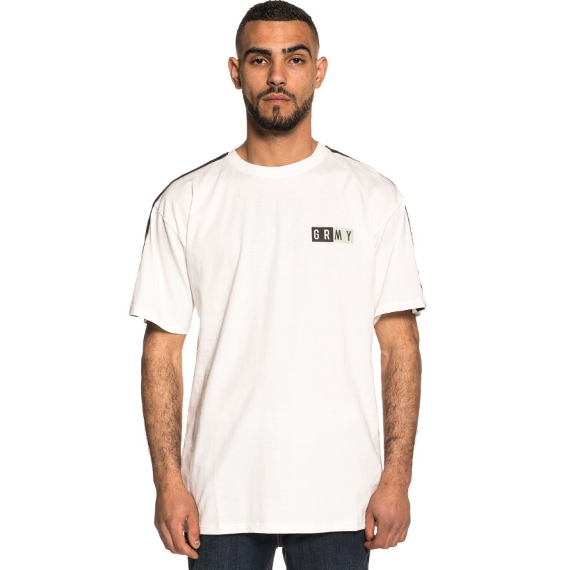 CAMISETA GRIMEY ASHE PIPING TEE SS18 WHITE-BLACK