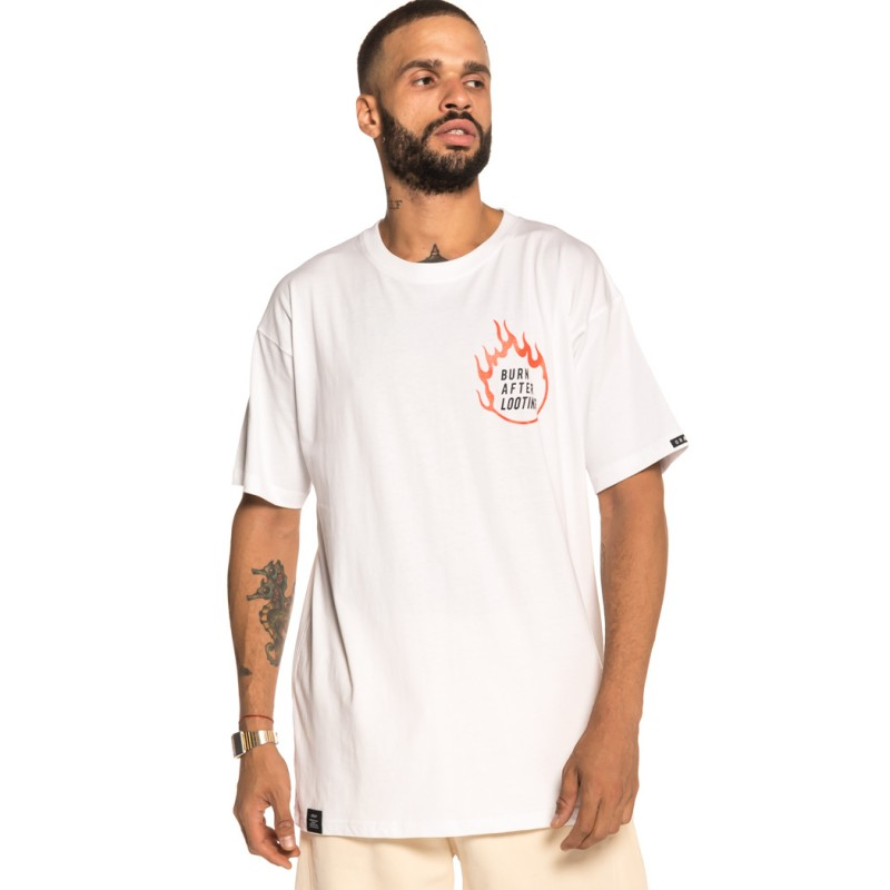 CAMISETA GRIMEY BURN AFTER LOOTING TEE FW18 WHITE