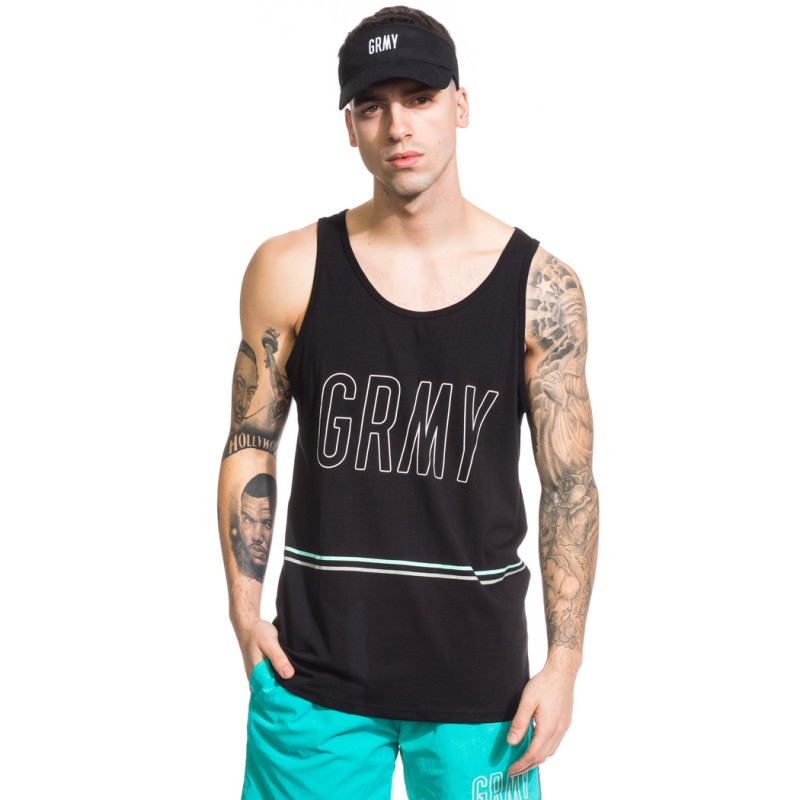 CAMISETA GRIMEY TIRANTES ROCK CREEK PARK SS17 BLACK