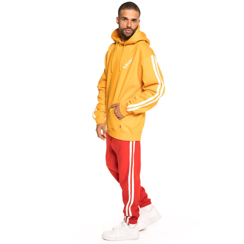 PACK GRIMEY HOODIE + PANT SMOOTH ECSTASY FW18 MUSTARD/RED