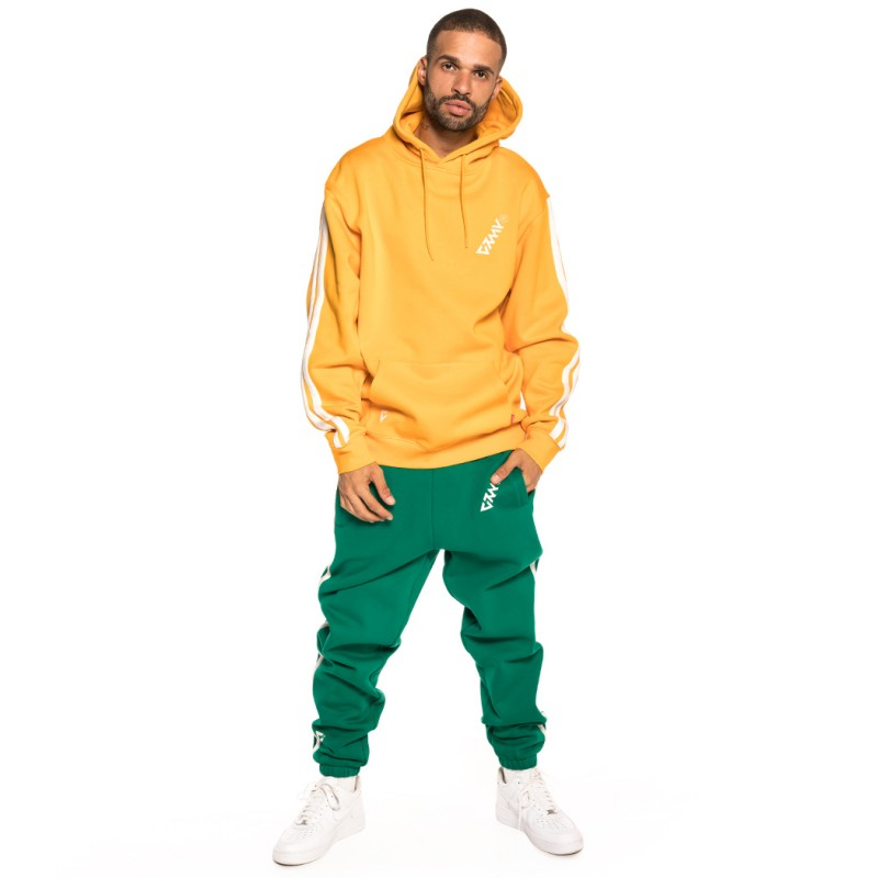 PACK GRIMEY HOODIE + PANT SMOOTH ECSTASY FW18 MUSTARD/GREEN