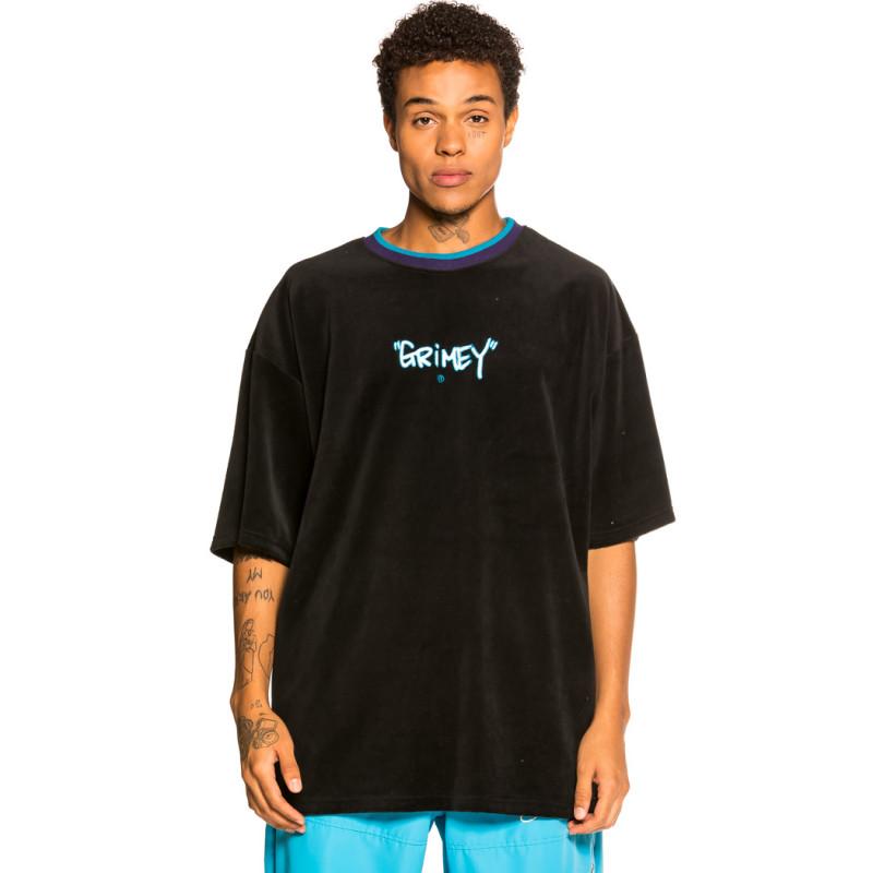 "Camiseta Grimey ""Gem Cutting Velvet"" - Black   Fall 21"