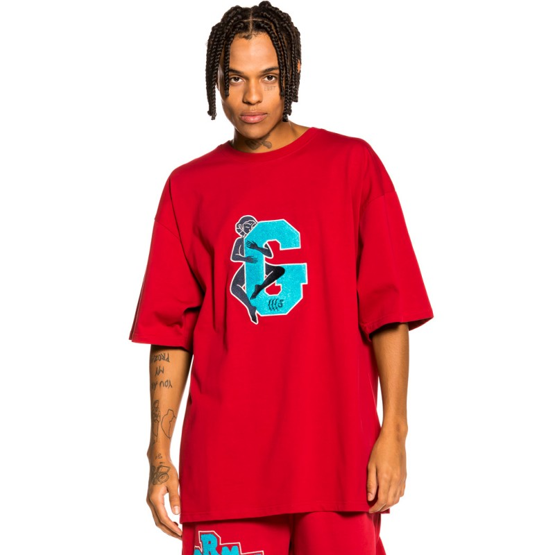 """Camiseta Grimey """"Singgang Junction Love G Heavy Weight"""" - Red 