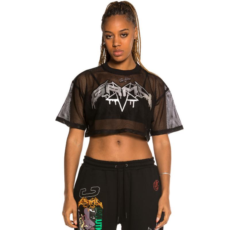 Camiseta corta de Chica Grimey Liveution Black   Spring 21