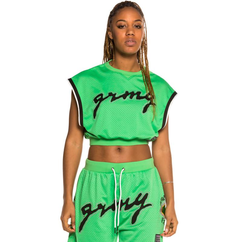Top de Chica Grimey Strange Fruit Mesh Green   Spring 21