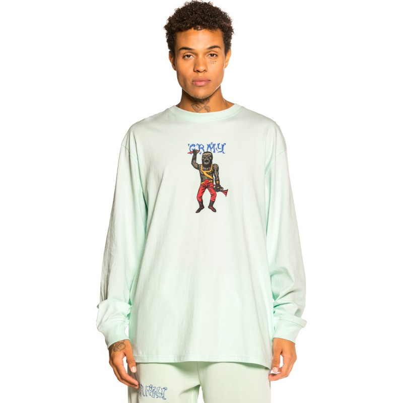 """Camiseta Manga larga Grimey """"Jazz Thing"""" - Light Blue   Fall 21"""