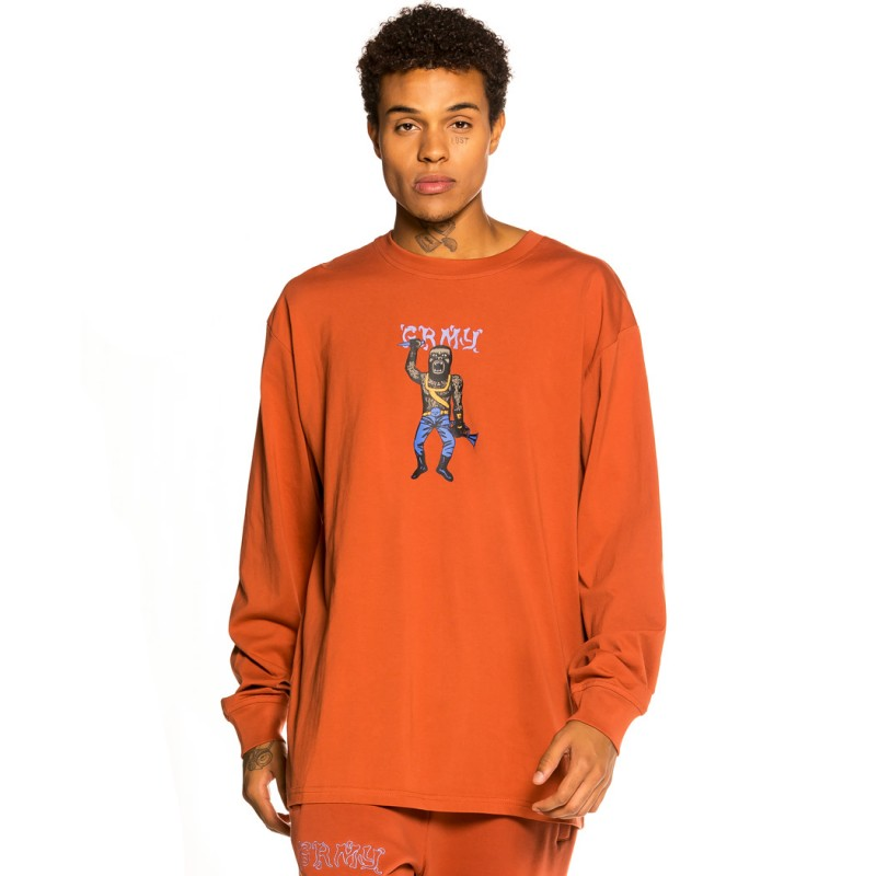"Camiseta Manga larga Grimey ""Jazz Thing"" - Ochre   Fall 21"