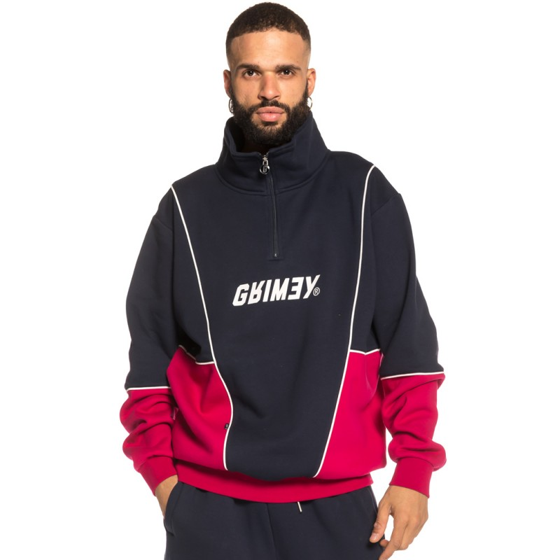 SUDADERA GRIMEY HAZY SUN HIGH NECK SWEATSHIRT FW18 NAVY