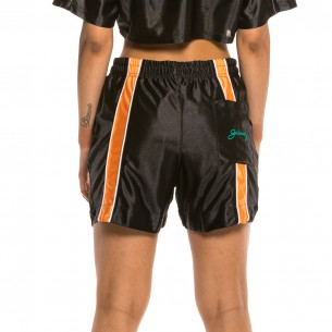 Bermuda Unisex Grimey Acknowledge Running Shorts SS20 Black