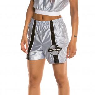 Bermuda Unisex Grimey Acknowledge Running Shorts SS20 Silver