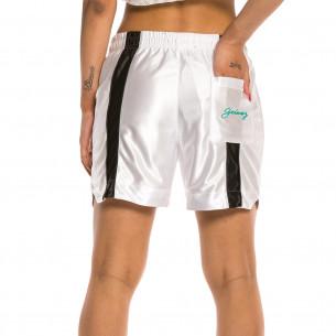Bermuda Unisex Grimey Acknowledge Running Shorts SS20 White