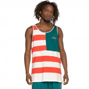Camiseta Grimey tirantes Midnight Stripes Tee SS19 Green