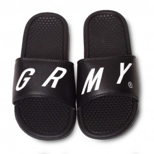 Chanclas Grimey Happy End F.A.L.A. SS19 Black