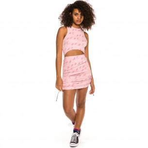 Pack Grimey Skirt + Top Urmah Dojo All Over Print Girl SS20 Pink