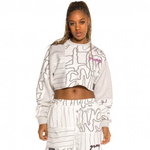 Sudadera Chica Grimey Strange Fruit All over Print White | Spring 21