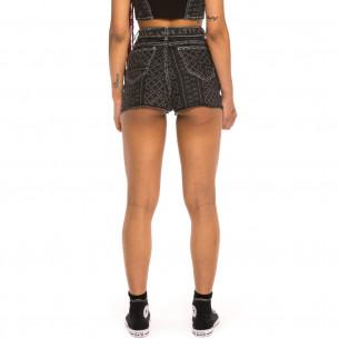 Pantalón corto chica Grimey Carnitas Denim SS20 Black