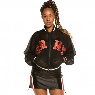 "Chaqueta Chica Grimey ""The Loot"" Mesh Black 