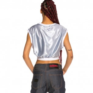 Crop Top Chica Grimey Acknowledge SS20 Silver