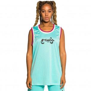 "Camiseta de Tirantes Unisex Grimey ""Hope Unseen"" Mesh - Blue | Summer 21"