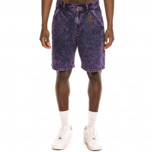 "Bermuda Grimey ""Liveution"" Denim - Purple 