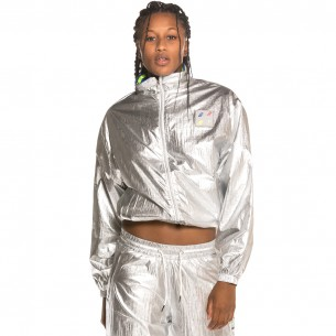 Track Jacket Grimey Planet Noire Girl FW19 Silver