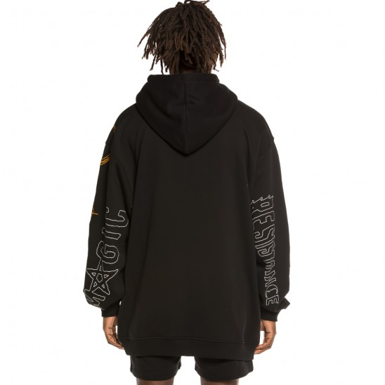 Sudadera Grimey Liveution Magic 4 Resistance Hoodie Black | Spring 21