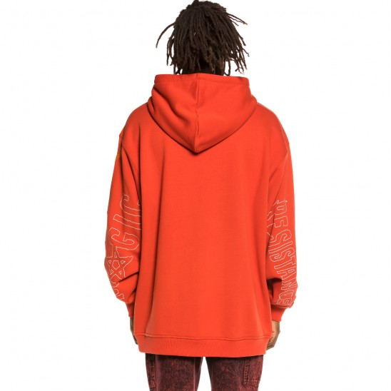 Grimey Liveution Magic 4 Resistance Hoodie Red   Spring 21